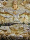 Vecchio altare di pietra nella foresta Fotografie Stock Libere da Diritti