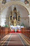 Vecchio altare nella chiesa, Slovacchia, Europa Fotografia Stock Libera da Diritti