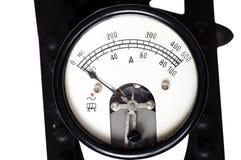 Vecchio amperometro immagine stock