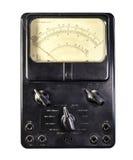 Vecchio amperometro fotografia stock