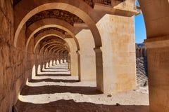 Vecchio amphitheater Aspendos a Antalya, Turchia Immagini Stock