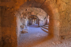 Vecchio amphitheater in Turchia laterale Fotografie Stock