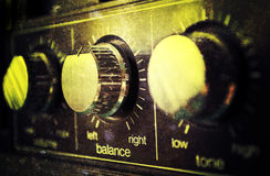 Vecchio amplificatore di Grunge Fotografie Stock
