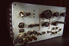 Vecchio amplificatore a transistor fatto a mano Immagine Stock