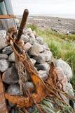 Vecchio ancoraggio arrugginito Fotografia Stock Libera da Diritti