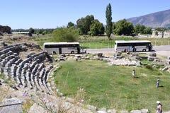 Vecchio anfiteatro greco Fotografia Stock Libera da Diritti
