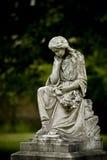 Vecchio angelo del cimitero Fotografia Stock