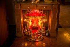 Vecchio antico, corte di Zhu Zhi Shrine Chinese Il cinese inglese di traduzione è Angel House thailand fotografia stock
