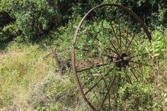 Vecchio aratro arrugginito Fotografie Stock