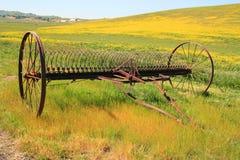 Vecchio aratro dell'azienda agricola Fotografia Stock Libera da Diritti