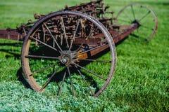 Vecchio aratro di agricoltura del ferro Fotografie Stock Libere da Diritti