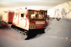 Vecchio aratro di neve Fotografia Stock Libera da Diritti