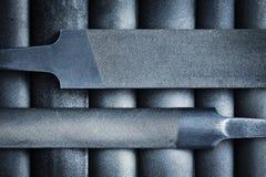 Vecchio archivio del metallo due Immagine Stock Libera da Diritti