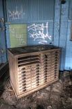 Vecchio archivio piano Fotografia Stock