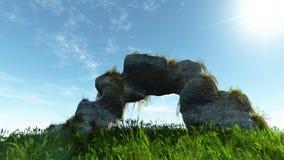 Vecchio arco di pietra Immagine Stock Libera da Diritti