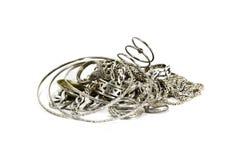 Vecchio argento Immagini Stock