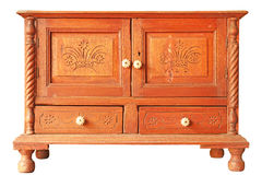 Vecchio armadietto di legno Immagini Stock Libere da Diritti