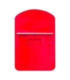Vecchio arrugginito della cassetta delle lettere isolato su fondo bianco Fotografia Stock
