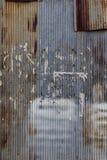 Vecchio arrugginito galvanizzato Fotografia Stock