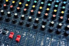 Vecchio audio miscelatore Immagini Stock Libere da Diritti
