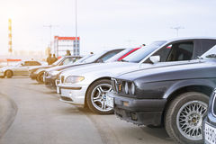 Vecchio-automobili BMW 3 serie Fotografia Stock