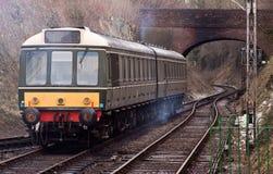 Vecchio avvicinamento del treno Fotografie Stock Libere da Diritti