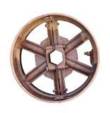Vecchio azionamento usato della rotella del metallo Fotografia Stock