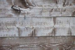 Vecchio backgorund di legno grigio Fotografie Stock