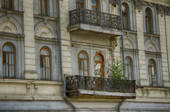 Vecchio balcone Immagini Stock