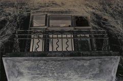 Vecchio balcone Fotografie Stock