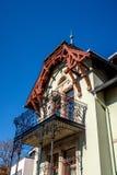 Vecchio balcone d'acciaio immagine stock libera da diritti