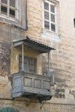 Vecchio balcone maltese Immagini Stock Libere da Diritti