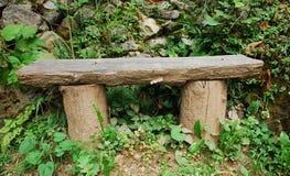 Vecchio banco di legno Fotografie Stock