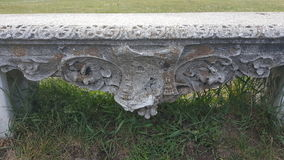 Vecchio banco di pietra Immagine Stock