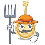Vecchio banjo dell'agricoltore nella mascotte di forma royalty illustrazione gratis