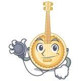 Vecchio banjo di medico nella mascotte di forma illustrazione di stock