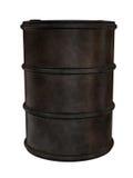 Vecchio barilotto arrugginito del metallo illustrazione di stock