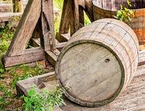 Vecchio barilotto di legno Fotografia Stock