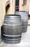 Vecchio barilotto di legno Fotografie Stock Libere da Diritti