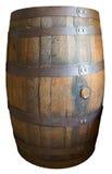 Vecchio barilotto di legno d'annata del whiskey isolato Immagine Stock