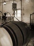 Vecchio barilotto di vino fotografia stock libera da diritti