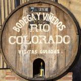 Vecchio barilotto di vino di legno in Cafayate, Argentina Fotografie Stock
