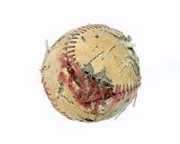 Vecchio baseball lacerato Fotografie Stock Libere da Diritti