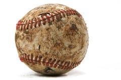 Vecchio baseball portato Fotografie Stock
