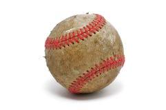Vecchio, baseball sporco Fotografia Stock