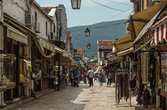 Vecchio bazar di Skopje Immagini Stock Libere da Diritti