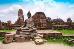 Vecchio bello tempio tailandese, Ayutthaya Immagine Stock Libera da Diritti