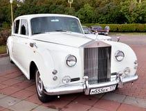Vecchio bianco classico dell'automobile Fotografia Stock Libera da Diritti