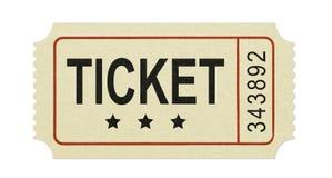 Vecchio biglietto fotografia stock libera da diritti