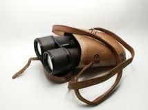 Vecchio binocolo nel caso Fotografia Stock